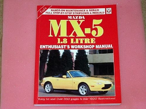Workshop manual, Mazda MX-5, Eunos Roadster & Miata mk1 1.8